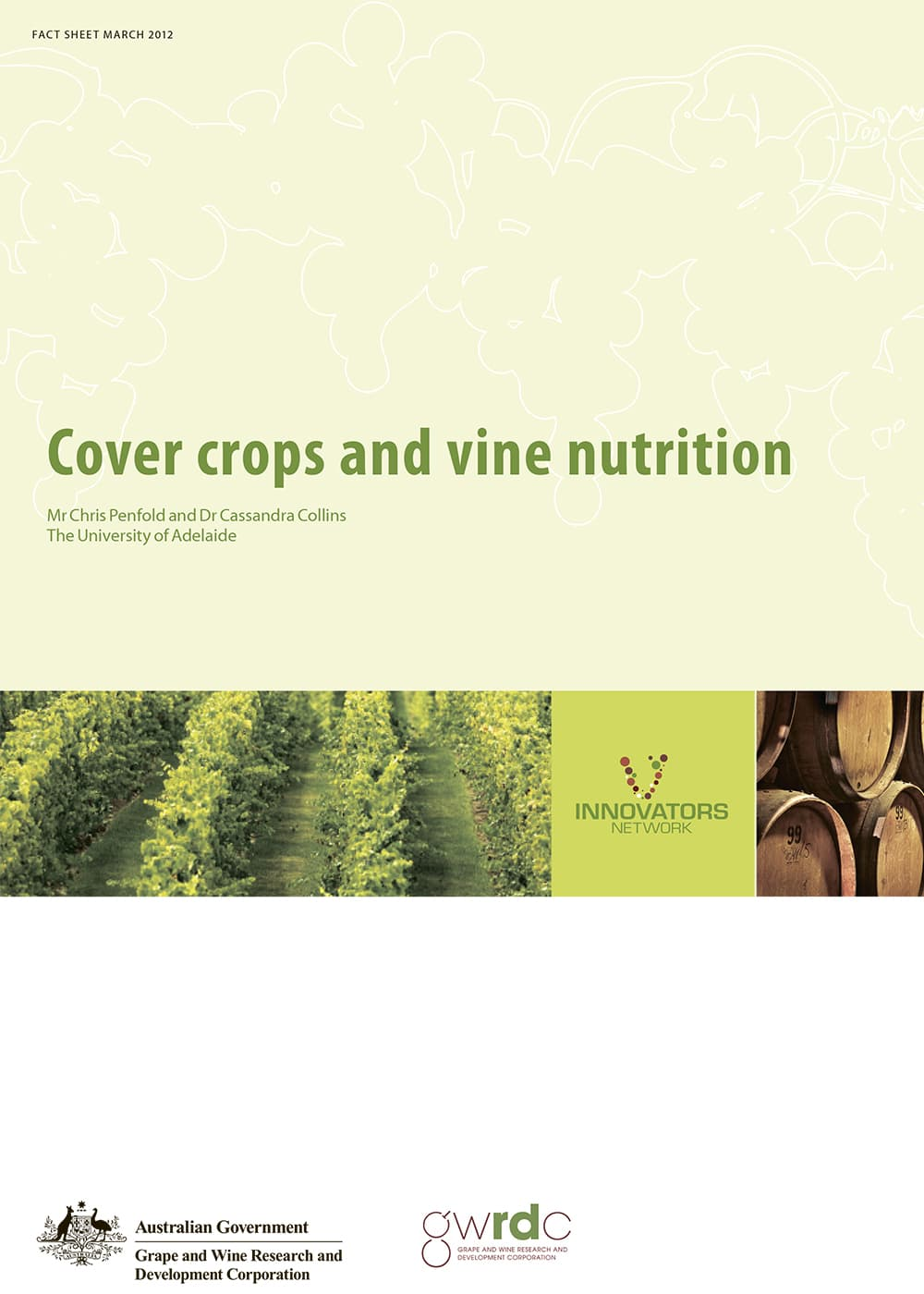 Cover crops and vine nutrition