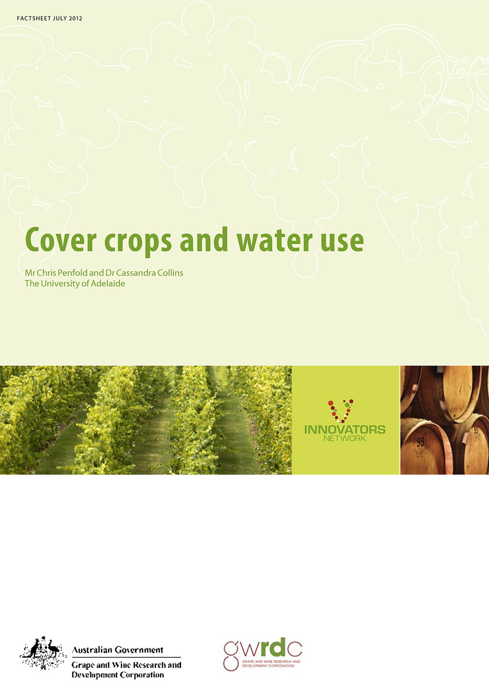 Cover crops and water use
