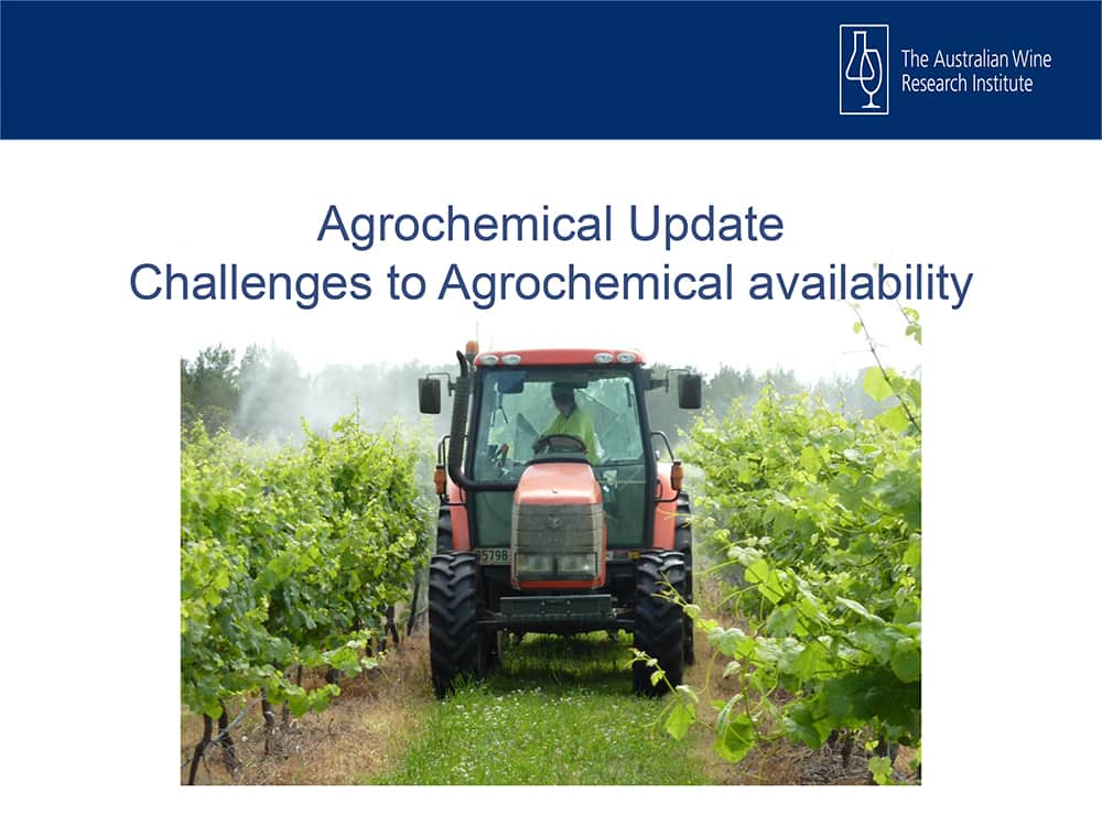 Agrochemical Update Challenges to Agrochemical availability