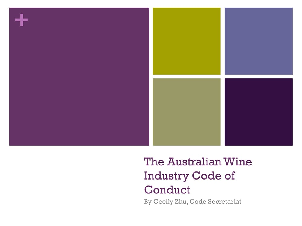 The Australian Wine Industry Code of Conduct