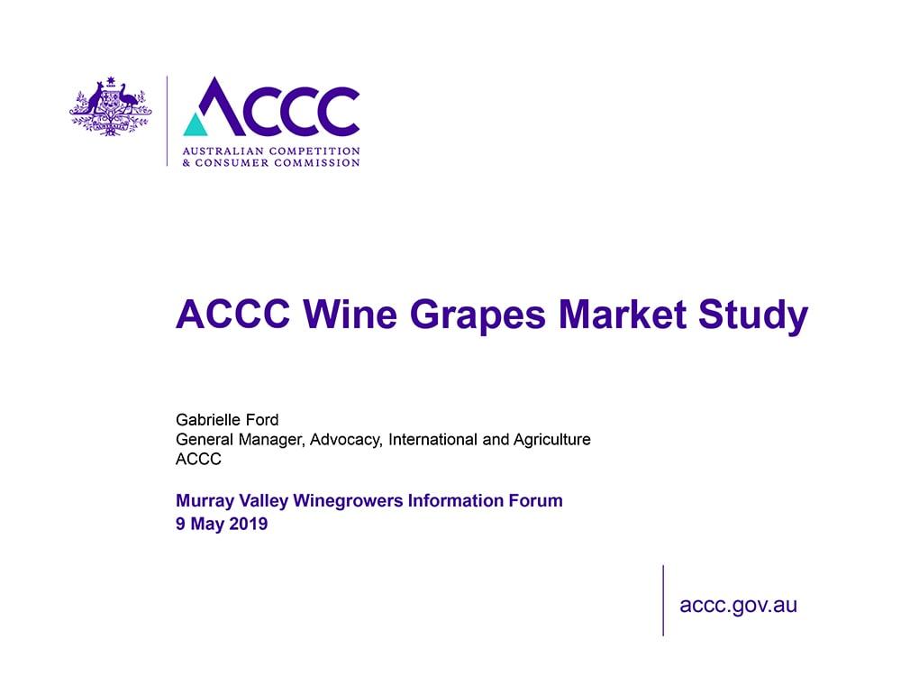 ACCC Wine Grapes Market Study