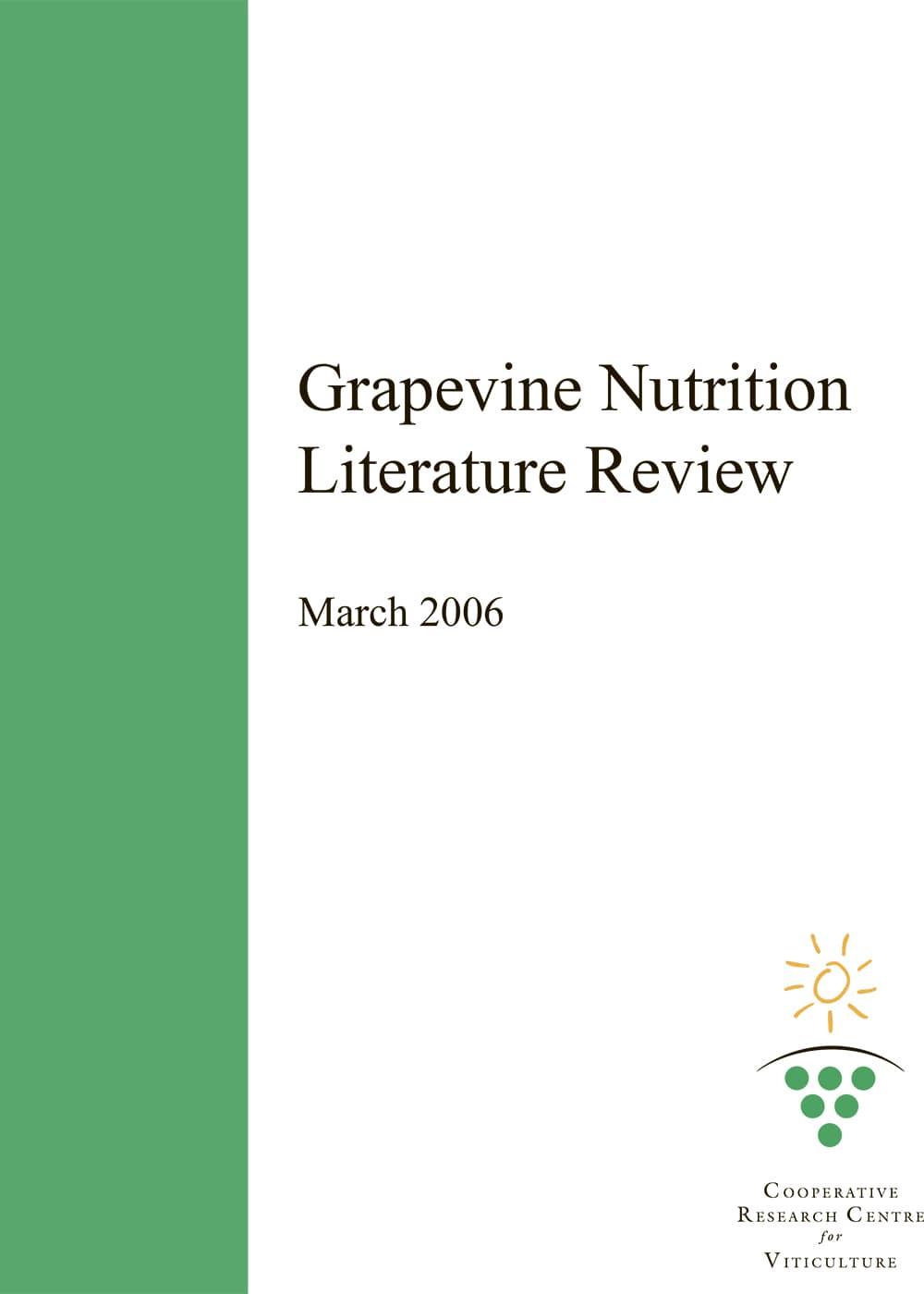 Grapevine Nutrition Literature Review