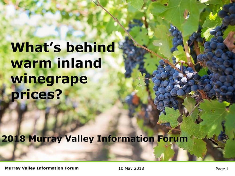 What's behind inland region grape prices? - Lawrie Stanford, Data Analyst