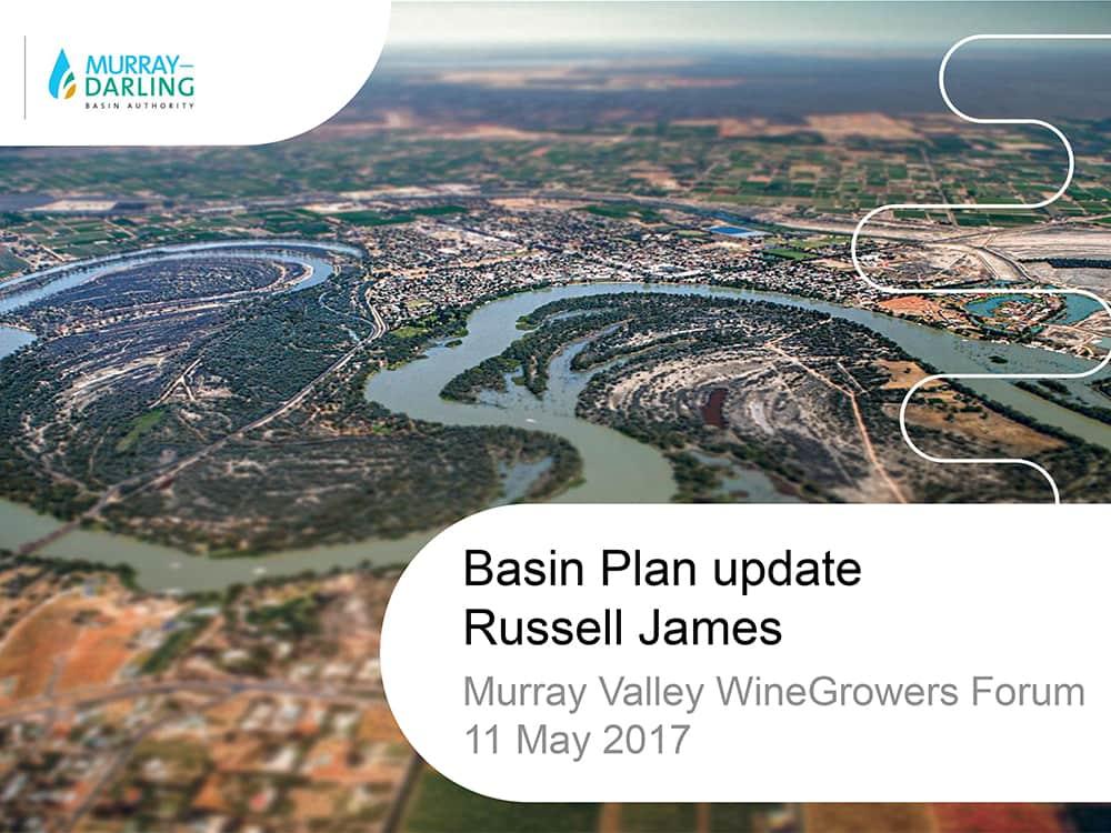 Basin Plan update Russell James