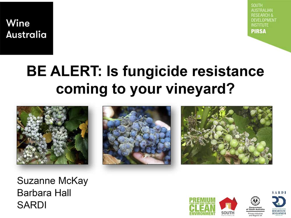 BE ALERT: Is fungicide resistance coming to your vineyard?