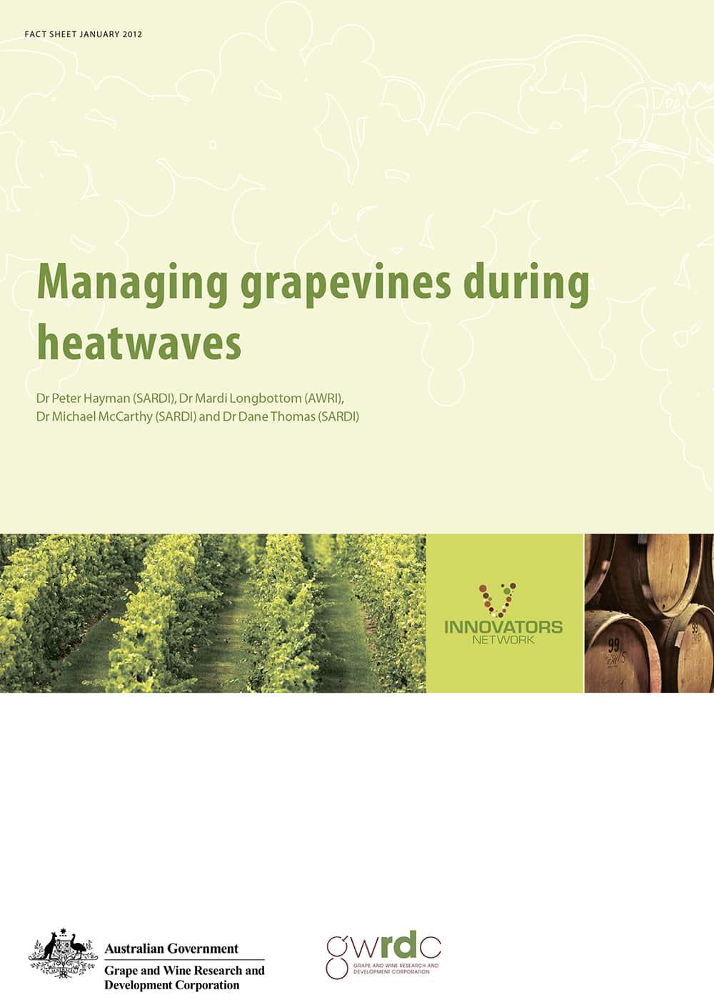 Managing grapevines during heatwaves