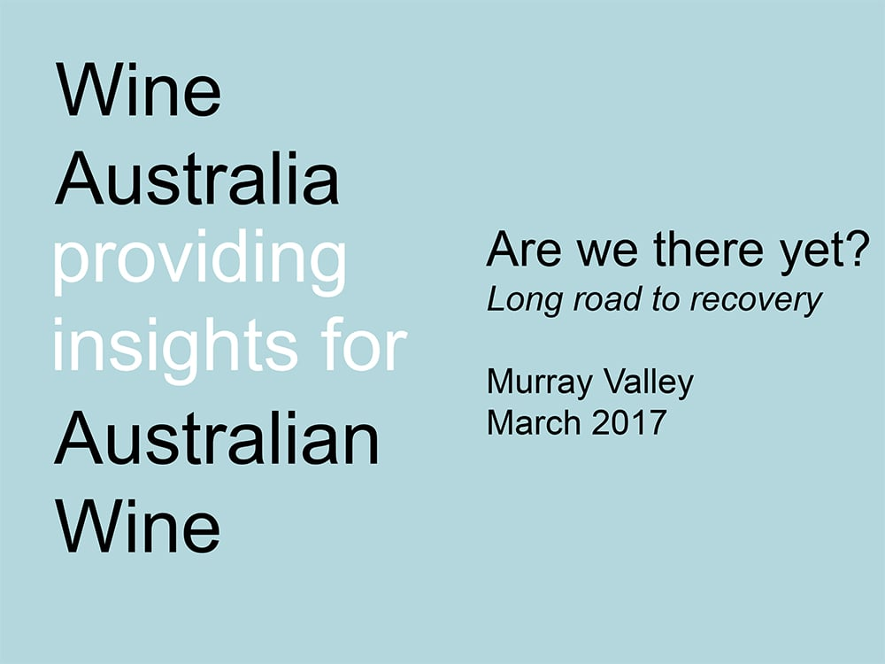 Are we there yet? Long Road to Recovery-Mark Rowley, Wine Australia