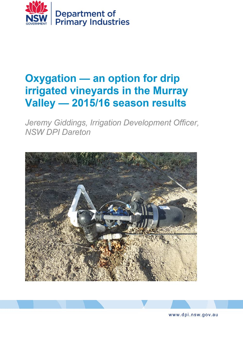 Oxygation — an option for drip irrigated vineyards in the Murray Valley