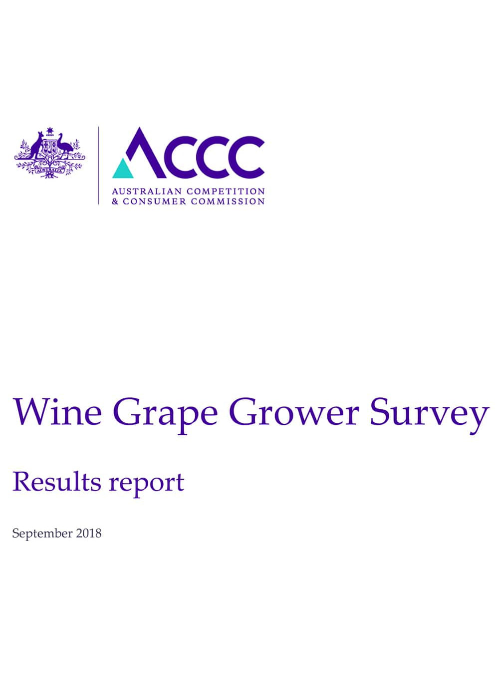 ACCC Wine Grape Grower Survey Results report