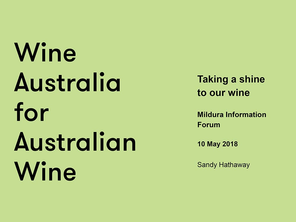 Taking a shine to our wine-Sandy Hathaway, Analyst, Wine Australia
